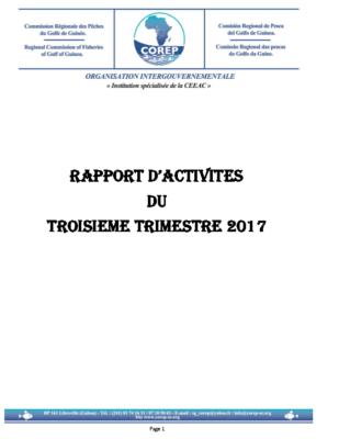 Rapport d'activité du 3ème trimestre 2017