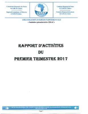 Rapport d'activités du 1er Trimestre 2017