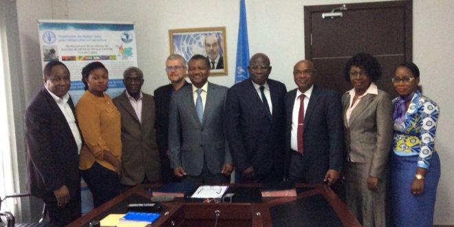 Cérémonie de signature du Protocole d'Accord entre la FAO et la COREP