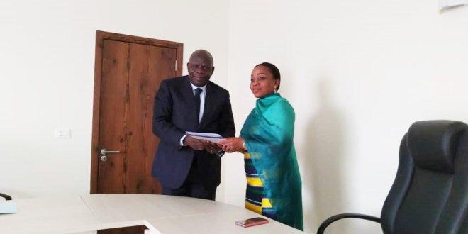Audience au cabinet du Ministre de la Pêche et de la Mer, Madame Prisca Koho épouse Nlend
